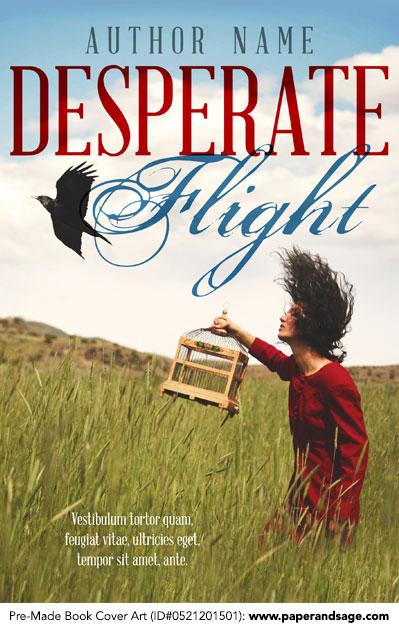 Pre-Made Book Cover ID#0521201501 (Desperate Flight)