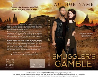 Print layout for Pre-Made Book Cover ID#0804201703 (Smuggler's Gamble)
