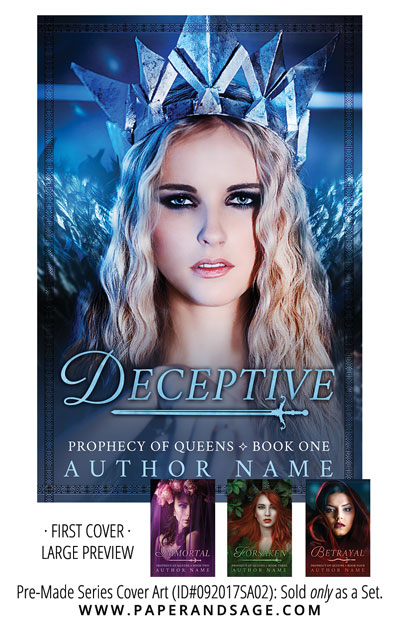 PreMade Series Covers ID#092017SA02 (Prophecy of Queens Series, Only Sold as a Set)