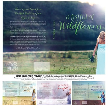 Print layout for PreMade Series Covers ID#092017SH01 (Fistful of Wildflowers, Only Sold as a Set)