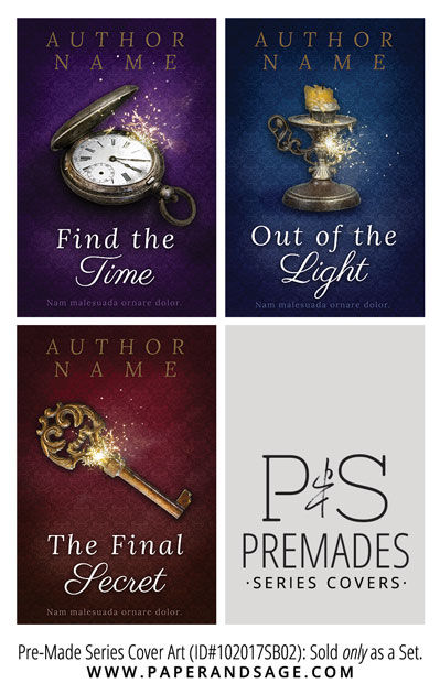 PreMade Series Covers ID#102017SB02 (Find the Time, Only Sold as a Set)