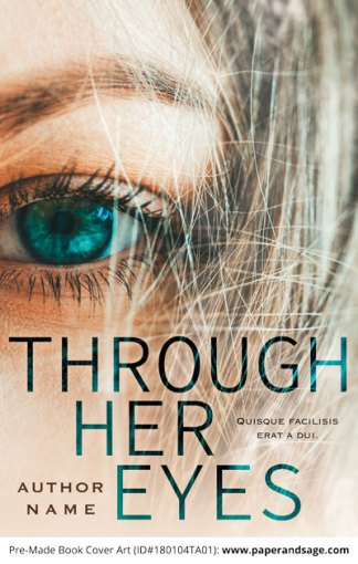 Pre-Made Book Cover ID#180104TA01 (Through Her Eyes)