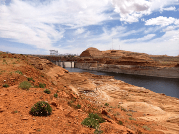 Glen Canyon Dam is located just above Lee's Ferry. It forms Lake Powell.
