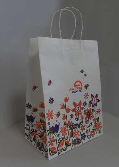 крафт пакет с полноцветной печатью