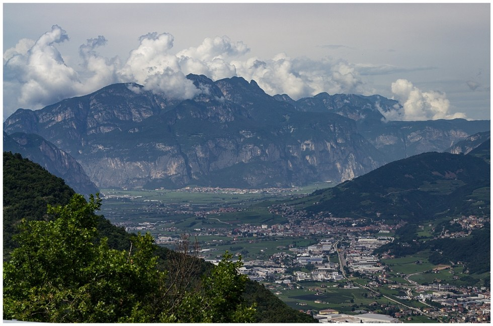 Trento from the Sopramonte road