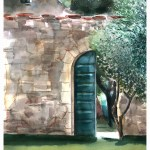 Green door Print 4 - Tuscany, door to the secret garden by Leanne Talbot Nowell