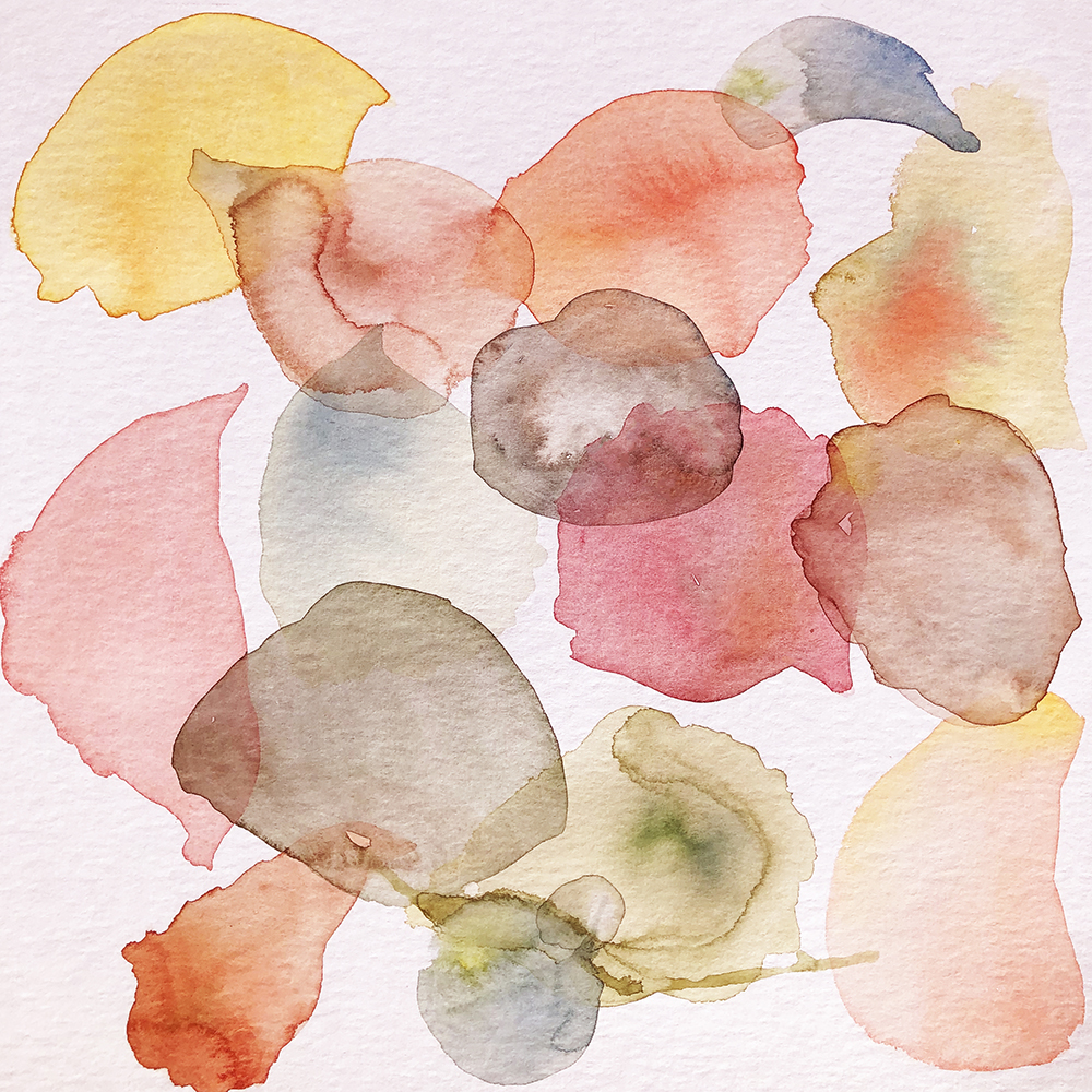 poppy petal watercolour