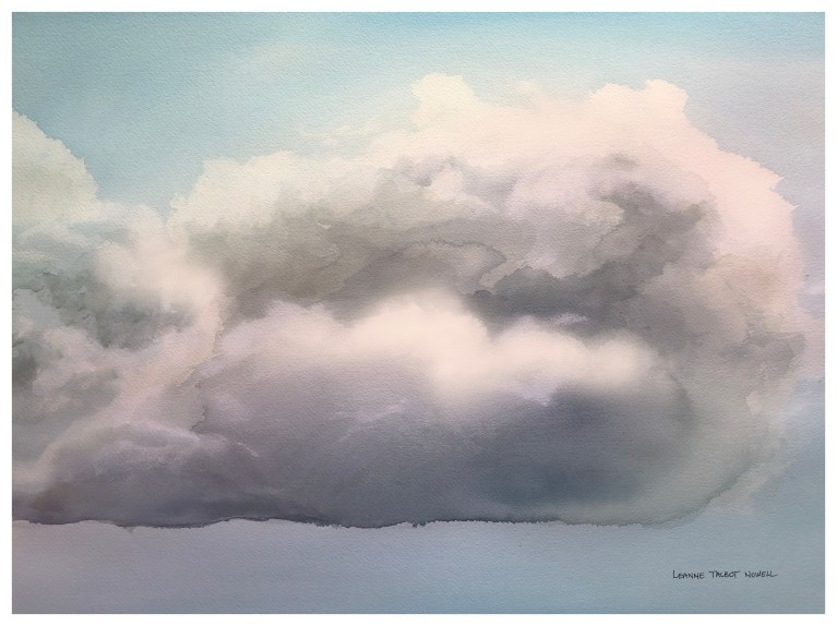 Cloud WATERCOLOR PAINTING by Leanne Talbot Nowell