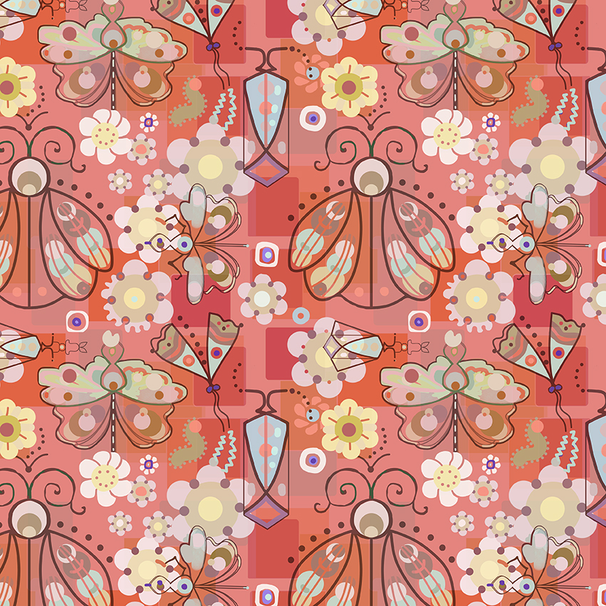 retro bug surface pattern by Paperbrush