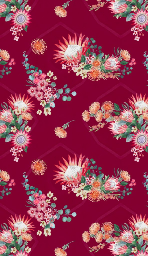Protea design by Leanne Talbot Nowell