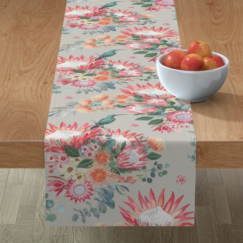 protea table runner Floral by Leanne Nowell