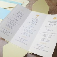 [custom wedding invitation] trilingual pochette