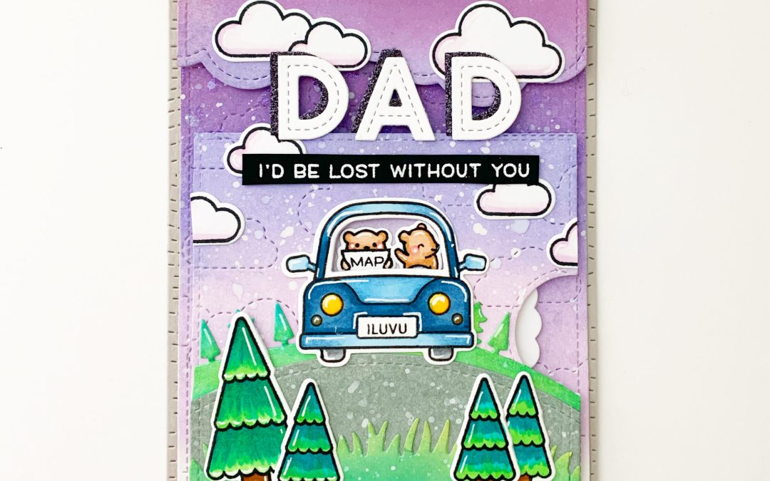 Father's Day Reveal Wheel Card