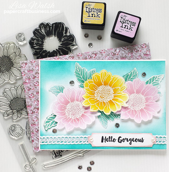 Altenew Spring Daisy Card - Get the list of supplies I used @ papercraftbusiness.com - Created by Lisa Walsh