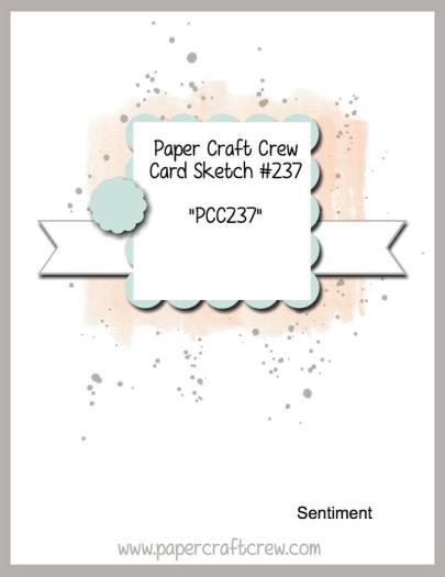 Visit the Paper Craft Crew and play along with Sketch Challenge 237. #pcc2017 #sketch #papercraftcrew  www.papercraftcrew.com