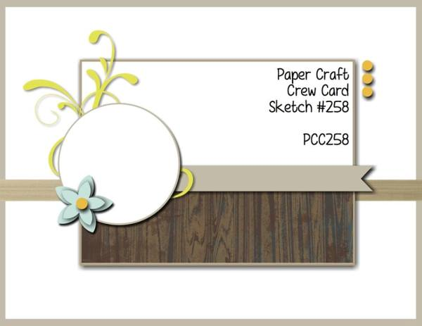 Play along with the Paper Craft Crew Sketch 258 the week of September 6, 2017 by going to www.papercraftcrew.com #sketchchallenge #papercraft #craft #playwithpaper #challenges