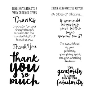 thank you messages stamp set thankful thoughts