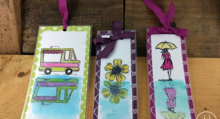 Bbookmark ideas, diy, stampin up, watercolor
