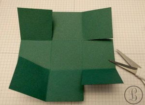 how to make a paper bix all sides cut