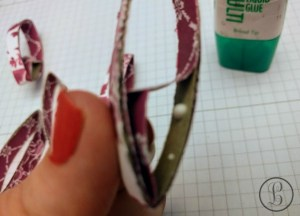 toilet roll craft glue the paper