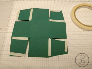 how to make a paper box taping the tabs