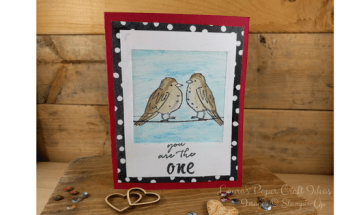 bird card idea, handmade, stampin up, love card diy,romantic card cute, polaroid card design