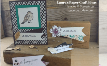 How to make a paper banner for cards, envelope punch board projects, paper craft ideas, cardmaking, embellishments from scraps