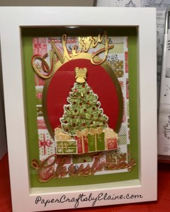Most wonderful time of the Year, home decor, 5x7 home decor, 5x7 shadow box sampler, paper crafting, home decor classes in Raleigh NC, Handmade Christmas Gifts, Hand made Christmas decor