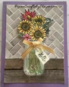In Good Taste DSP, Jar of Flowers Bundle,  Sunflower flowers, greeting cards,  handmade greeting cards,  fun and easy greeting cards,
