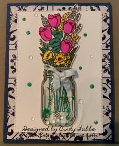 Jar of Flowers stamp set, Jar of Flowers Bundle, Jar of Flowers designs, Jar of Flowers and punch, greeting cards, handmade greeting cards, quick and easy cards using punch,  Fun quick shaker cards, Shaker cards made easily, Year round stamp sets, stamps to use year round,