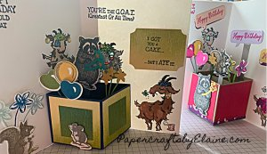 Way to Goat stamp set, Someone Special stamp set, Band together stamps and dies, greeting card, handmade greeting cards, Pop up cards, how to make pop up cards,