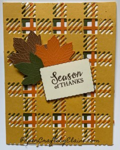Gift Wrapped Bundle, Best Plaids Dies, Fall cards, fall color cards, easy fall cards, greeting cards, handmade greeting cards, best year round stamp set,