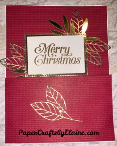 Christmas gold Foil, 12 weeks of Christmas, how to use gold foil dsp, easy to make cards,
