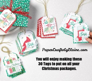 Christmas Tag Buffet Kit