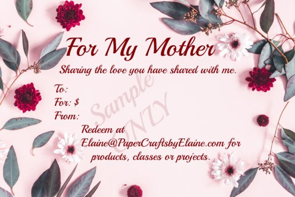 Gift Cards for Crafters, Mother's Day Gift Cards, Birthday Gift Cards, Gift Cards for Crafters,
