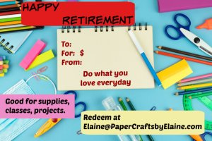 retirement gift cards, birthday gift cards, Mother's Day gift cards,