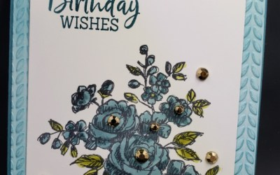 How to add color to embossing folders