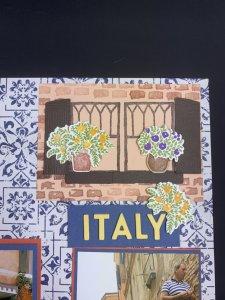 scrapbook layout ideas, travel scrapbook layout ideas, Taste of Italy scrapbooking, Welcoming Window Bundle scrapbook pages,