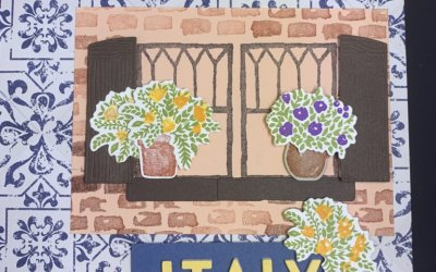 Welcoming Windows in Italy Scrapbook Pages