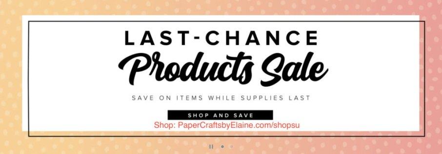 Last Chance Sale April 2021
