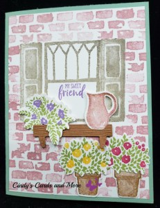 Welcome Window Bundles, greeting cards, handmade greeting cards, beautiful flowers, creating spring, handmade cards, birthday cards, Easter cards, cards for spring, get well soon cards, how to create a brick wall, building a brick wall,