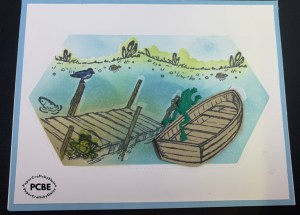 by the dock stamp set and dies, creating a scene with blending brushes, Last Chance stamps, male cards, male birthday cards, all occasion cards for men,  by the dock,