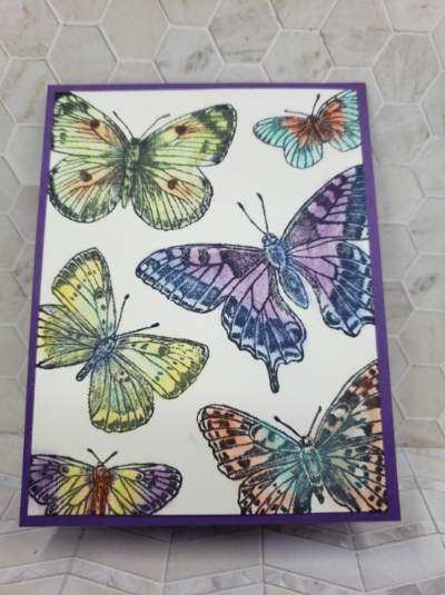 butterfly brilliance bundle, using chalk on cards, cards for all occasion, greeting cards, handmade greeting cards,