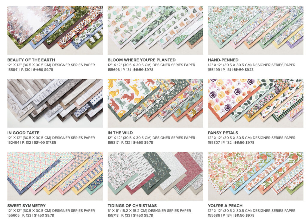 Enjoy these beautiful pattern papers at a discount. 15% off. Order today