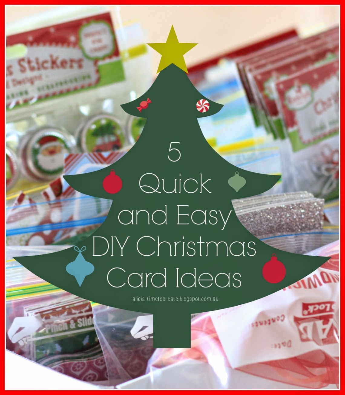 5 Quick and Easy DIY Christmas Card Ideas - Paper Craft Secrets
