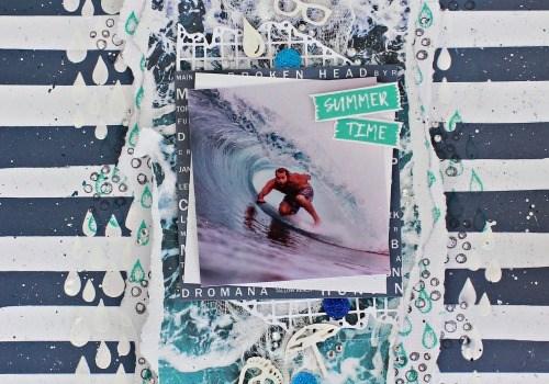 Kaisercraft Summer Splash Layout ~ Featuring Stamping