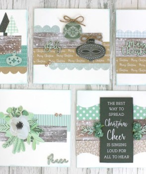 quick and easy set of 10 mint wishes christmas cards with instructions - Mint Christmas Cards