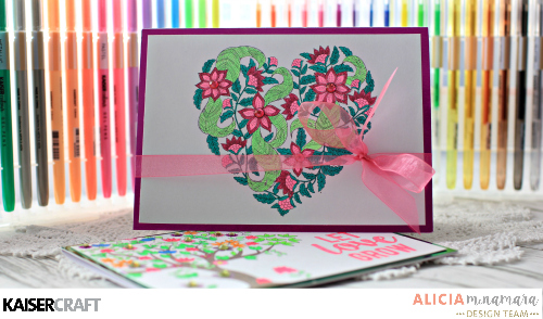 3 Colourful DIY Valentine's Day Cards Ideas with Gel Pens