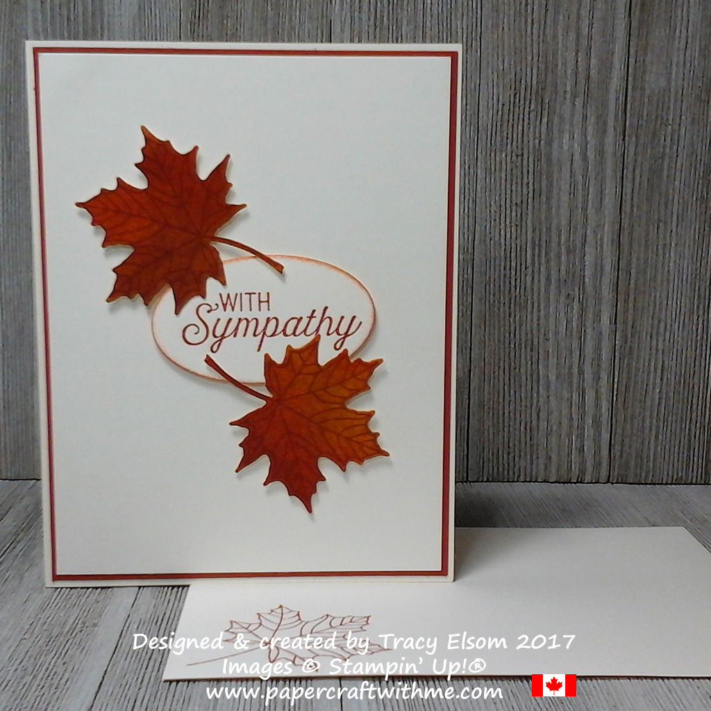 Simple sympathy card created using the Colorful Seasons Stamp Set and coordinating Seasonal Layers Thinlits Dies, with sentiments from the Flourishing Phrases Stamp Set from Stampin' Up!