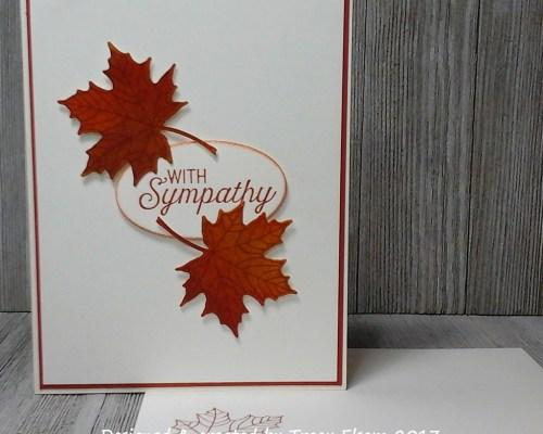 1354 Fall Sympathy Card